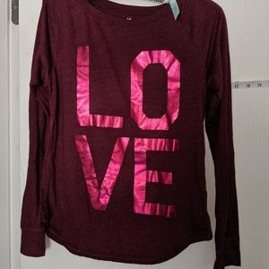 AMERICAN EAGLE LADIES SIZE SMALL LOVE LS SHIRT